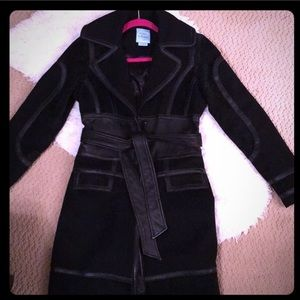 Guess Winter Coat with Leather trim
